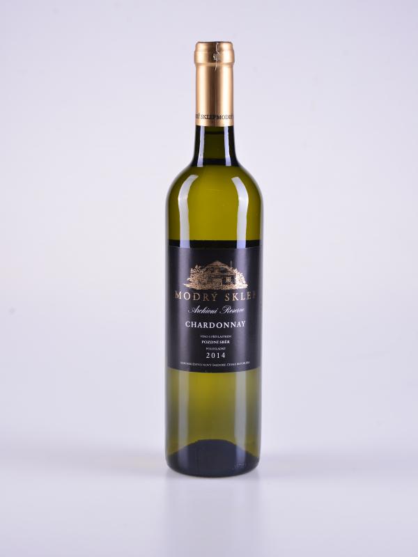Chardonnay, pozdní sběr, polosladké, 2014 – Modrý sklep