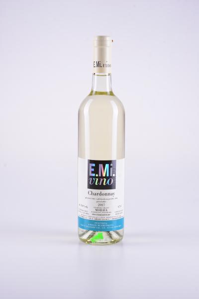 Chardonnay, pozdní sběr, polosladké, 2017 – E.Mi.