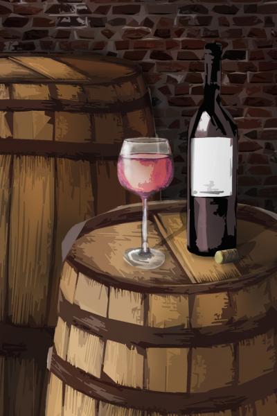 Sudové víno – MERLOT ROSÉ, polosladké – Pompey House