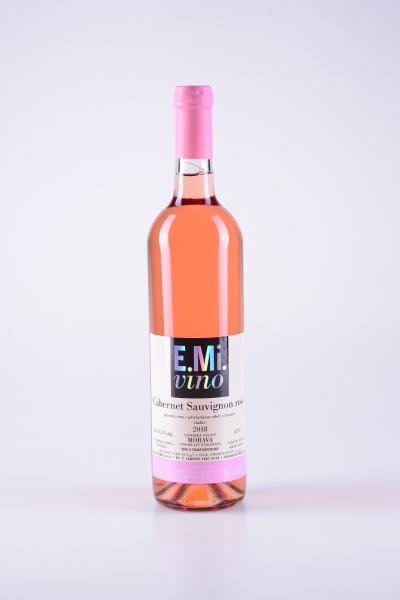 Rosé Cabernet Sauvignon, výběr z hroznů, sladké, 2018 – E.Mi.