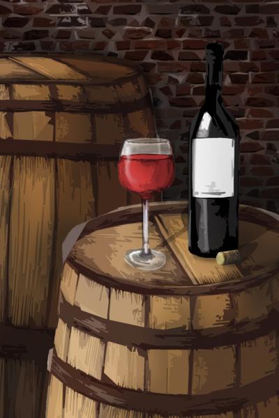 Sudové víno – ČERNÝ RYBÍZ, polosladké – Royal Wine