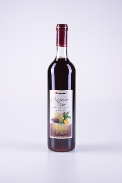 Bezinkové bylinné víno zplodů a květů černého bezu – Pankovo