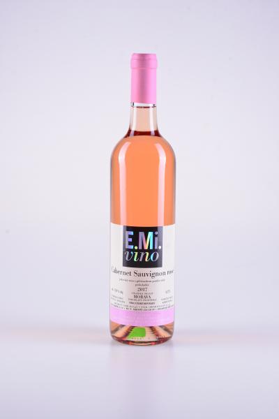 Rosé Cabernet Sauvignon, pozdní sběr, polosladké, 2017 – E.Mi.